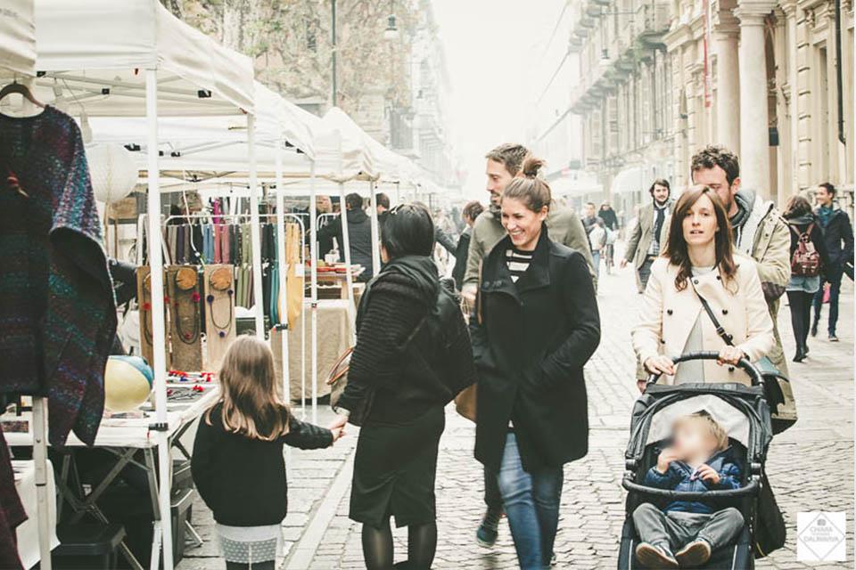 Mercato dell'artigianato a Torino, autunno 2018